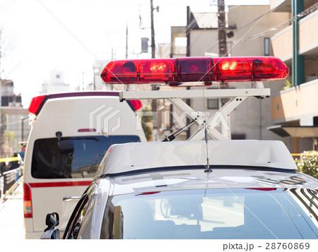 パトカーの回転赤色灯 28760869