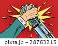 ロボット 腕 アームレスリングのイラスト 28763215