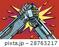 Fighting robots Arm wrestling fight confrontation 28763217