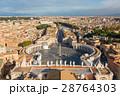 バチカン サン・ピエトロ広場とローマ市街の景色 28764303