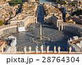 バチカン サン・ピエトロ広場とローマ市街の景色 28764304