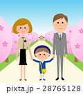 園児 親子 桜並木 28765128