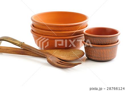 Ceramic tableware on white backgroundの写真素材 [28766124] - PIXTA