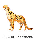 Cartoon smiling Cheetah 28766260