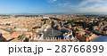 バチカン サン・ピエトロ広場とローマ市街の景色 パノラマ 28766899