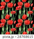 水彩画 花 赤のイラスト 28768615