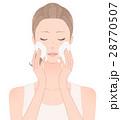 女性 洗顔 スキンケアのイラスト 28770507