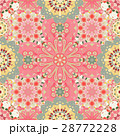 Pink Mandala Background for greeting card 28772228