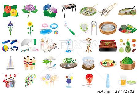 夏の風物詩のイラスト素材 28772502 Pixta