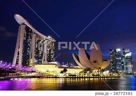 シンガポール マリーナベイ・サンズ 夜景 28772581