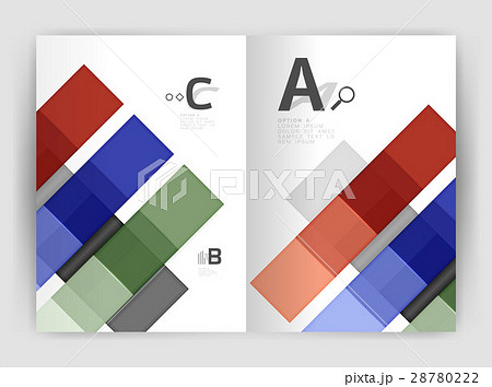 Vector modern geometrical a4 flyer brochureのイラスト素材 [28780222] - PIXTA