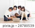家族 リビング ミニチュアダックスの写真 28780539