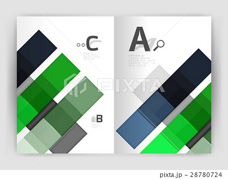 Business a4 business brochure geometrical templateのイラスト素材 [28780724] - PIXTA