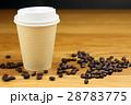 紙コップ ドリンク コーヒーの写真 28783775