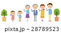 3世代家族 家族 指差しのイラスト 28789523