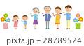 3世代家族 家族 人物のイラスト 28789524