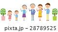 3世代家族 家族 ファミリーのイラスト 28789525