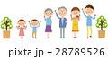 3世代家族 家族 ファミリーのイラスト 28789526