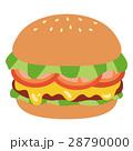 ハンバーガー ファーストフード パンのイラスト 28790000