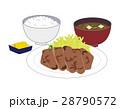 鶏の照り焼き定食 照り焼き 定食のイラスト 28790572