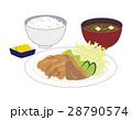 しょうが焼き定食 しょうが焼き 定食のイラスト 28790574