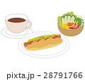 ホットドック ホットドックセット 食べ物のイラスト 28791766