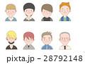 表情 顔 人物のイラスト 28792148