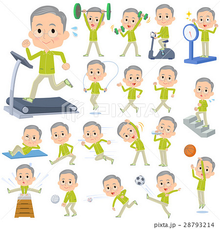 Green wear grandfather Sports & exercise 28793214