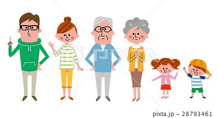 3世代家族 全身 28793461