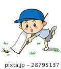 子供 男の子 虫取りのイラスト 28795137
