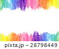 水彩テクスチャー フレーム レインボー 28798449