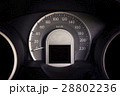 Close up dashboard of a car speed meter. 28802236