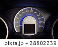 Close up dashboard of a car speed meter. 28802239