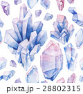 Watercolor crystals pattern 28802315