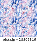 Watercolor crystals pattern 28802316