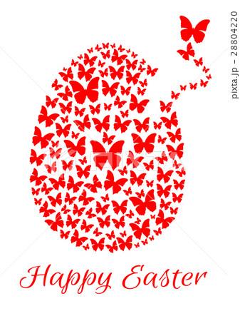 Easter egg consists of flying butterfliesのイラスト素材 [28804220] - PIXTA