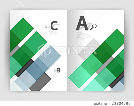 Set of front and back a4 size pages, businessのイラスト素材 [28804296] - PIXTA