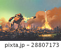 giant robot destroy the city 28807173