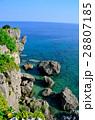 万座毛 海 海岸の写真 28807185