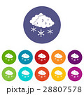 Clouds and snow set icons 28807578