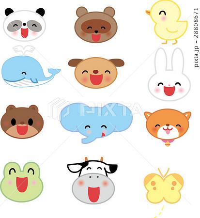 かわいい動物の顔 キャラクター向け 28808671