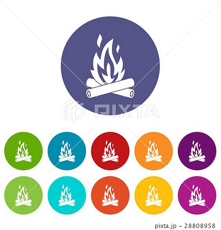 Campfire set icons 28808958