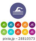 Swimmer set icons 28810373