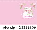 招待状 ウェディングケーキ ウェディングのイラスト 28811809
