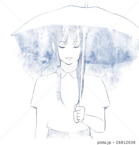 傘を差す女性2のイラスト素材 28812036 Pixta