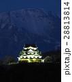 2月滋賀 彦根城・天守閣ライトアップと伊吹山 28813814