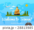 Welcome to Taiwan poster with famous attraction 28813985