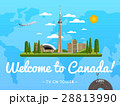 Welcome to Canada poster with famous attraction 28813990