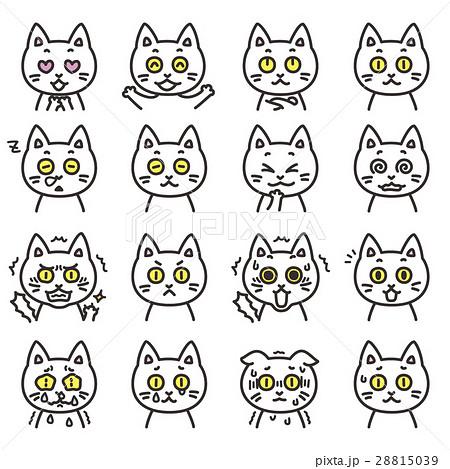 猫のキャラクター 表情01 28815039