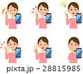 女性 スマートフォン 表情としぐさのセット 28815985